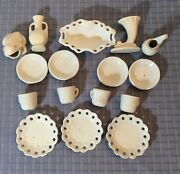 Vintage Antique White Ironstone Porcelain Doll Dishes Small