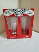 New Collectible Budweiser Signature Glassware 2-piece Set Clear