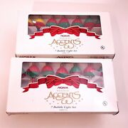 Noma Accent Lot Of 2 Sets Of 7 Bubble Lights Red Blue Green Yellow Christmas Vtg
