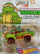 New Hot Wheels Tmnt Michelangelo Turtle Character Die Cast Car Holiday Gift Idea