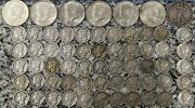 9 Face Value 90 Silver Coins Bulk Lot Collection - See Pic - Mercury Dimes...