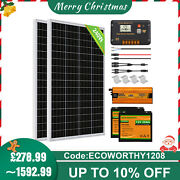 2kwh/day 100w 200w 500w 720w Off-grid Solar Panel Kit With Lithium Battery Home
