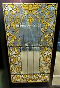 Fancy Antique Vertical Stained Glass Window 26 X 46