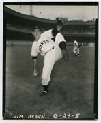 Orig.1950and039s 4x5 Type 1 Contact Proof - Jim Hearn - 1956 Topps