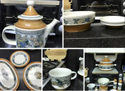 Goebel Country Burgund China Set Service For 8 Plus Many Extras/serving Pieces