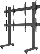 2x2 Rolling Video Wall Mount Cart Display With Micro Adjustment Arms Vesa Univer