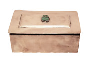Sterling Silver Jewelry Box With Jade Stone By Sanborn