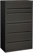 Hon 795ls 700 Series Five-drawer Lateral File W/roll-out Posting Shelves, 42w,