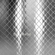 Quilted Stainless Steel Sheets 8 Pack 430 Chrome Finish - 24ga 24 Gauge - 48