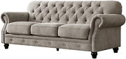 Acanva Luxury Chesterfield Chenille Diamond Tufted Living Room Sofa 91 W Couch