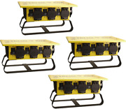 Coleman Cable 019703r02 50a Portable Gcfi Power Distribution Spider Box 4-pack