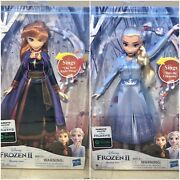 Disney Frozen Ii - Singing Musical Elsa And Anna Doll One Each