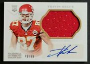 2013 National Treasures Autograph Rookie Jersey Travis Kelce Rc 40/99 Chiefs