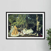 Claude Monet - Luncheon On The Grass 1865 - Art Print Painting Poster