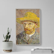 Vincent Van Gogh - Self-portrait With Straw Hat 1887 Art Print Painting Poster