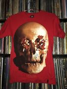 Imking Shirt Red Skull With Cigarettes Rare Streetwear Andy Cool Sz S Supreme
