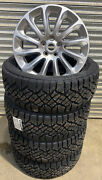 Set Of 4 Range Rover L405 20andrdquo Silver Alloy Wheels Goodyear Duratrac Tyres