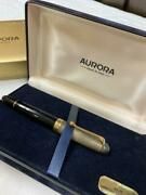 Aurora-fountain-pens Jewelery Collection Black Gold W/box Case Used F/s