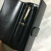 Mont Blanc-fountain-pens And Ballpoint Pen Meisterstck Le Grand Black Gold F/s