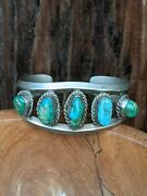 Estate Find Royston Turquoise Estate Old Pawn Cuff Bracelet Beautiful Condition
