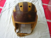 Antique 1930andrsquos Leather Football Helmet Signed By Otto Graham Cleveland Browns