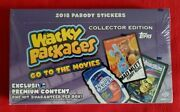 2018 Topps Wacky Packages Go To The Movies Collector's Edition Sealed Box  Rare