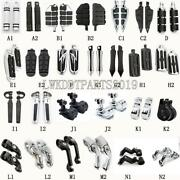 Motorcycle Highway Chrome Black Foot Pegs Footpegs For Harley Davidson Touring