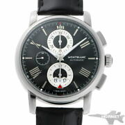 4810 Chronograph Automatic 115123 Black Stainless Menand039s Watch [b0203]