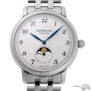 Star Legacy Moon Phase Automatic 117326 Silver Ss Menand039s Watch [b0203]