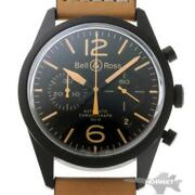 Bell And Ross Br 126 Vintage Chronograph Automatic Br126-94-sc Menand039s Watch [b0203]