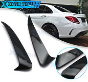 Black Rear Air Vent Spoiler Splitter Canard For Mercedes Benz C-class W205 Sedan