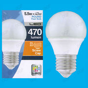 25x 5.5w Led Ultra Low Energy Instant On Pearl Round Golf Light Bulb Es E27 Lamp