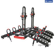 Deluxe 4-bike Platform Carrier Rack Fits 2and039and039 Hitch Receiver With Free Key Lock