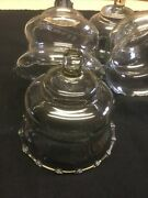 Votive Cups Set Of 4 Homco Home Interior Crystal Clear Glass Short Candle Holder
