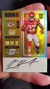 Kareem Hunt 4/10 Gold Wow Gold Optic Contenders Auto Ssp Rc 🔥