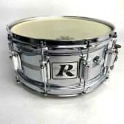 Vintage 70and039s Rogers Snare Drum Big R Dyna-sonic 14andtimes6.5 Chrome Over Brass Rare O