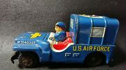 Tin Toy Us Military Jeep Us Air Force Mini Car Made In Japan Antique