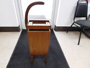 Antique Wooden Wood Telephone Phone Stand Table