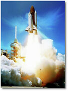 Angel Flight By Peter Chilelli - Space Shuttle Challenger - Space Art Print