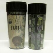 Lot Of 2 Starbucks Coffee Company 1990and039s Thermoserv 12 -16 Oz Travel Tumblers