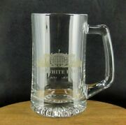 The White House Washington Dc U.s. Capitol Clear Etched Beer Stein Mug Souvenir