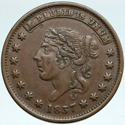 1837 United States Us Hard Times Political Token W Liberty Not One Cent I88201