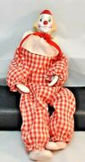Vintage Porcelain Clown Doll Enesco Marked Dated 1903 Bisque Feet