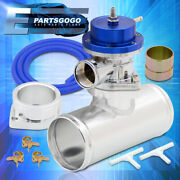 Universal Type-s Adjustable Psi Blue Blow Off Valve Turbo + 2.5 Adapter Pipe
