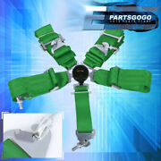 3 Wide Nylon Green Strap 5 Point Camlock Harness Racing Seat Belt Quick Snap