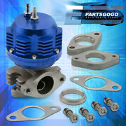 38mm Turbo Charger 8 Psi Boost Manifold External Wastegate Internal Spring Blue