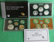 2012 United States Mint Annual 14 Coin Silver Proof Set Key Date