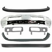 New Front Bumper Chrome Steel And Covers Kit For Dodge Ram 1500 2500 1994-2002