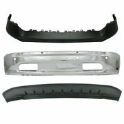 New Upper And Lower Front Bumper Cover Set Of 3 For Dodge Ram 1500 2013-2018
