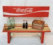 Wooden Park Bench For Doll Shelf Handcrafted Vintage Coca Cola Crate 1971 Decor